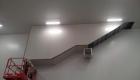 Habillage de l'escalier en panneaux sandwich
